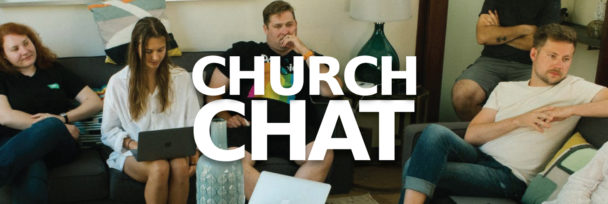 Church members meeting for informal discussion